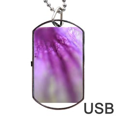 Purple Flower Pedal Dog Tag USB Flash (One Side)
