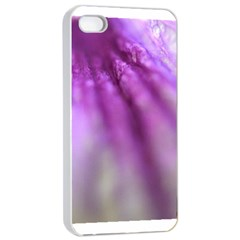 Purple Flower Pedal Apple iPhone 4/4s Seamless Case (White)