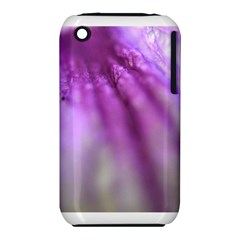 Purple Flower Pedal Apple Iphone 3g/3gs Hardshell Case (pc+silicone)