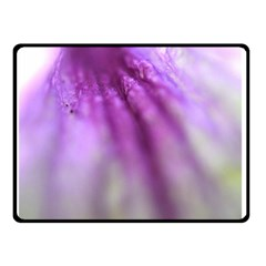 Purple Flower Pedal Double Sided Fleece Blanket (small)