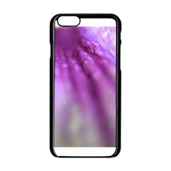 Purple Flower Pedal Apple Iphone 6 Black Enamel Case