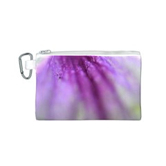 Purple Flower Pedal Canvas Cosmetic Bag (S)