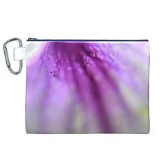 Purple Flower Pedal Canvas Cosmetic Bag (XL)