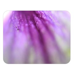 Purple Flower Pedal Double Sided Flano Blanket (Large)