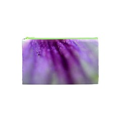 Purple Flower Pedal Cosmetic Bag (XS)