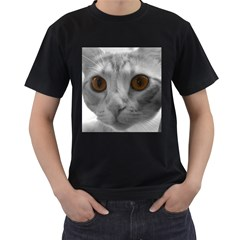 Funny Cat Men s T Shirt (black) (two Sided)