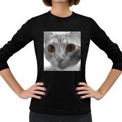 Funny Cat Women s Long Sleeve Dark T Shirts