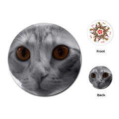 Funny Cat Playing Cards (round)