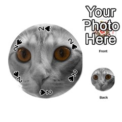 Funny Cat Playing Cards 54 (round)