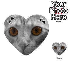 Funny Cat Playing Cards 54 (heart)