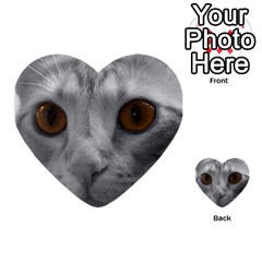 Funny Cat Multi-purpose Cards (Heart)
