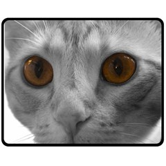 Funny Cat Fleece Blanket (Medium)