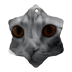 Funny Cat Snowflake Ornament (2-Side)