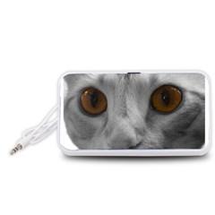 Funny Cat Portable Speaker (white)