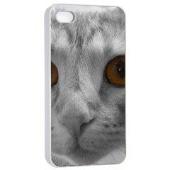Funny Cat Apple iPhone 4/4s Seamless Case (White)