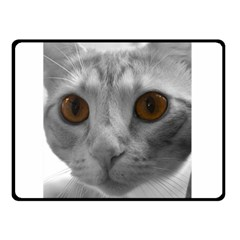 Funny Cat Double Sided Fleece Blanket (small)
