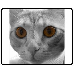 Funny Cat Double Sided Fleece Blanket (Medium)