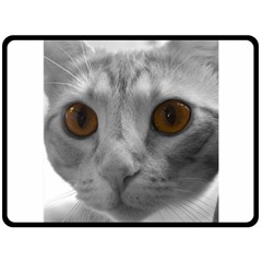 Funny Cat Double Sided Fleece Blanket (large)