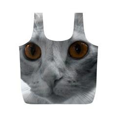 Funny Cat Full Print Recycle Bags (m)