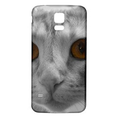 Funny Cat Samsung Galaxy S5 Back Case (white)
