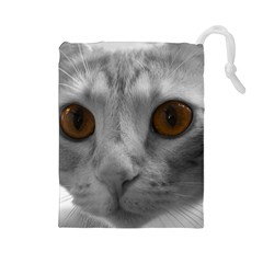 Funny Cat Drawstring Pouches (Large)