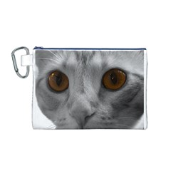 Funny Cat Canvas Cosmetic Bag (M)