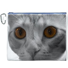 Funny Cat Canvas Cosmetic Bag (XXXL)