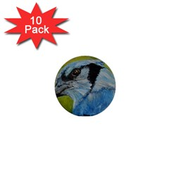 Blue Jay 1  Mini Buttons (10 Pack)
