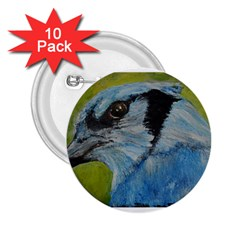 Blue Jay 2 25  Buttons (10 Pack)