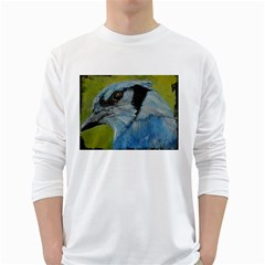 Blue Jay White Long Sleeve T Shirts