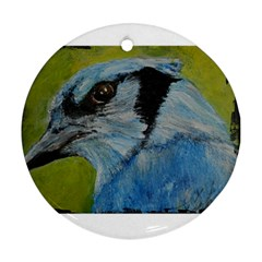 Blue Jay Round Ornament (two Sides)