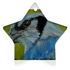 Blue Jay Star Ornament (two Sides)