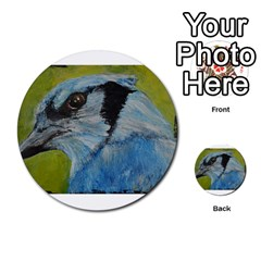 Blue Jay Multi-purpose Cards (Round)