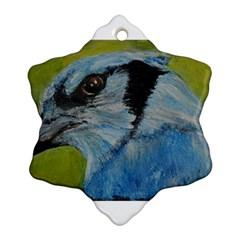 Blue Jay Snowflake Ornament (2-Side)