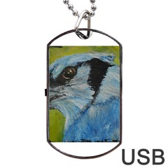 Blue Jay Dog Tag USB Flash (One Side)