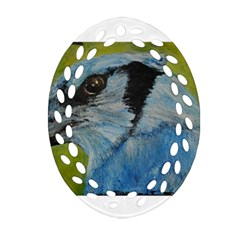 Blue Jay Ornament (oval Filigree)