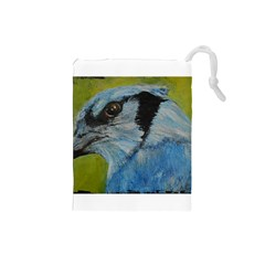 Blue Jay Drawstring Pouches (small)