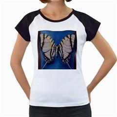Butterfly Women s Cap Sleeve T