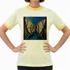 Butterfly Women s Fitted Ringer T Shirts