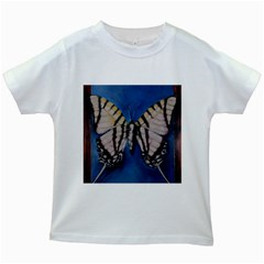 Butterfly Kids White T-Shirts
