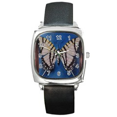 Butterfly Square Metal Watches