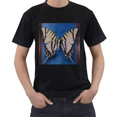 Butterfly Men s T Shirt (black) (two Sided)