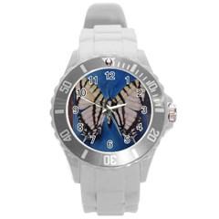 Butterfly Round Plastic Sport Watch (l)