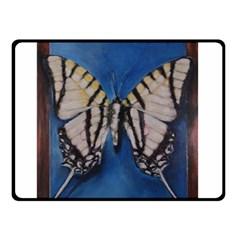 Butterfly Double Sided Fleece Blanket (Small)