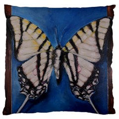 Butterfly Large Flano Cushion Cases (two Sides)
