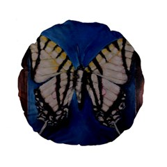 Butterfly Standard 15  Premium Flano Round Cushions
