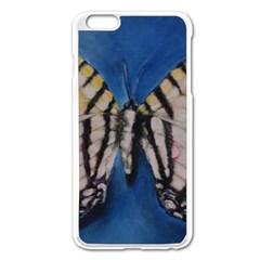 Butterfly Apple iPhone 6 Plus Enamel White Case