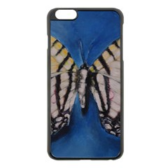 Butterfly Apple iPhone 6 Plus Black Enamel Case