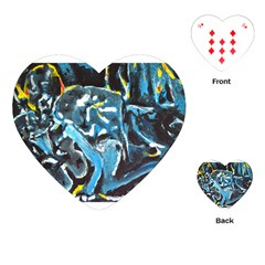 Man and Woman Playing Cards (Heart)