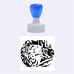 Man And Woman Rubber Round Stamps (medium)